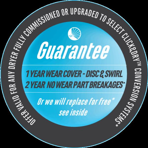 Spray dry nozzle conversion adaptor and cap guarantee